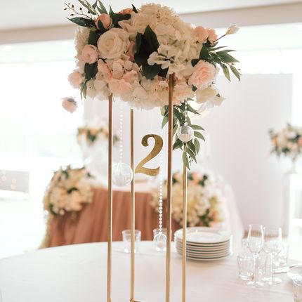 Цветочные композиции на стол гостей