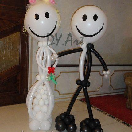Фигуры молодожёнов из шаров