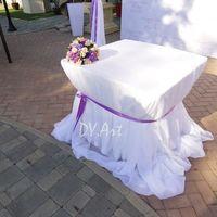 Декор стола регистрации