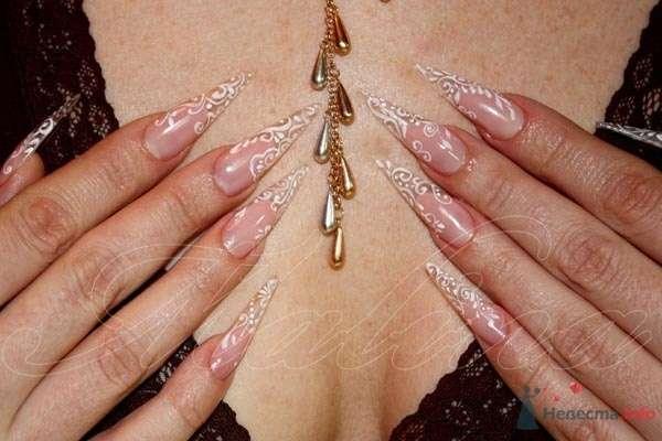 роспись. акриловая краска - фото 47118 Наращивание ногтей - частный мастер Malina