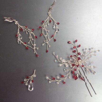Украшение для волос - комплект с серьгами и кулоном