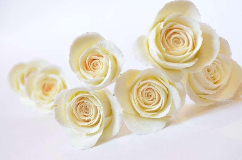 """Свадебные шпильки с бежевыми розами ручной работы из полимерной глины - фото 2520671 Ателье цветов """"Блюмен"""""""