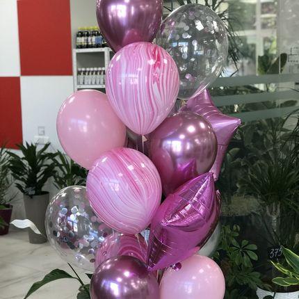 Розовый - оформление шарами