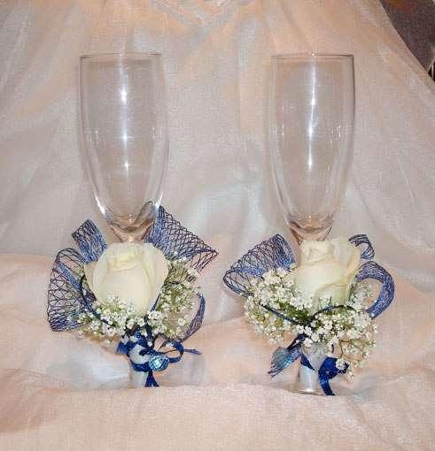 Фото 2587527 в коллекции свадебные бокалы - Цветочный магазинчик - услуги оформления