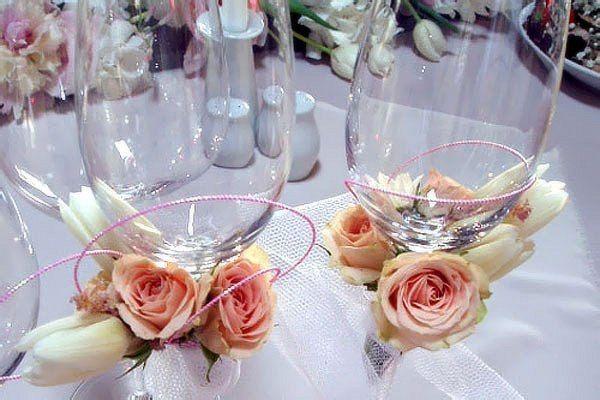 Фото 2587531 в коллекции свадебные бокалы - Цветочный магазинчик - услуги оформления