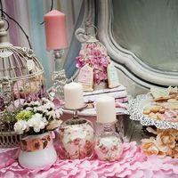 Элементы сладкого стола в стиле Шебби-шик.