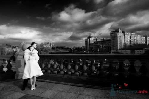 Фотография на прогулке, Мост Христа Спасителя, Москва-река