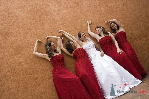Подружки невесты в красном - фото 4890 Свадебный распорядитель - Бедрикова Оксана