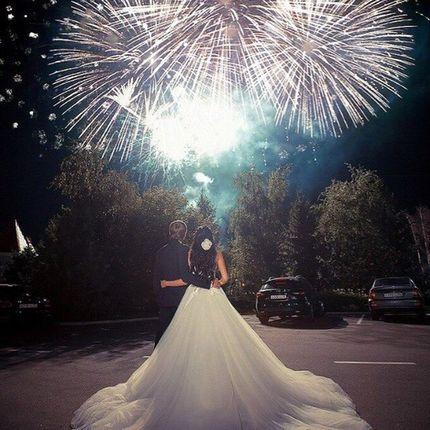 Профессиональный свадебный фейерверк