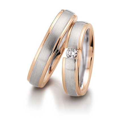 Обручальное кольцо с бриллиантом W0090