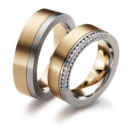 Обручальное кольцо с бриллиантом W0018
