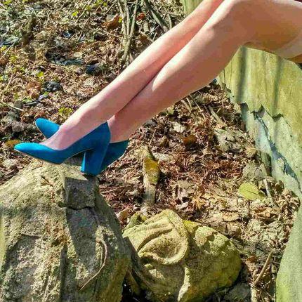 Туфельки замшевые