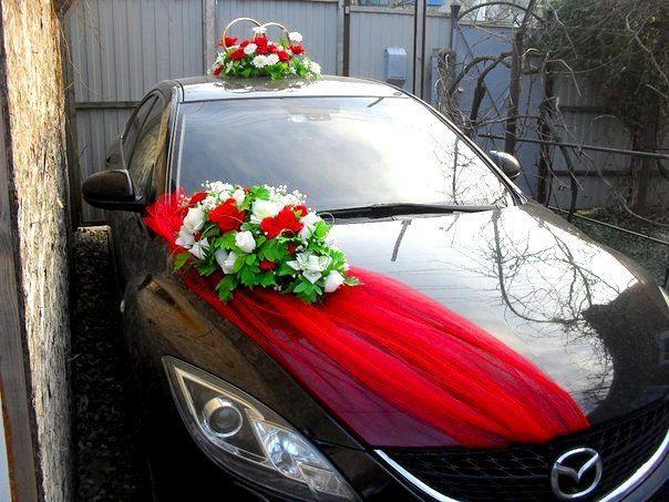 Оформление машины - комплект красно-белый