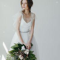 """Платье """"Мятная Нежность"""", цвет: айвори - мята."""