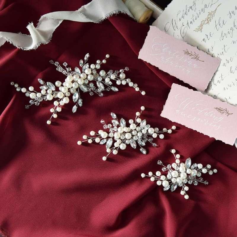 Веточки для свадебной прически от 1000 руб. - фото 17548932 Екатерина Захарова - украшения для волос