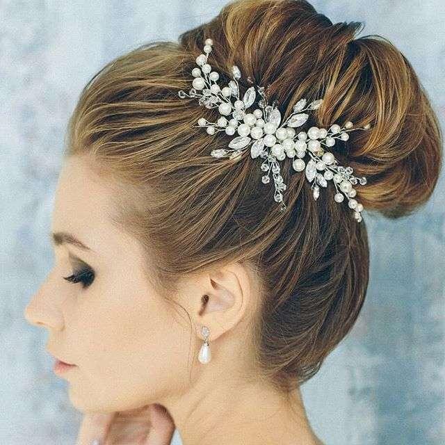 свадебный гребень в прическу невесты 1650руб. - фото 17548934 Екатерина Захарова - украшения для волос