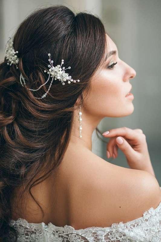 Свадебные серьги из натурального жемчуга 800 руб. - фото 17549064 Екатерина Захарова - украшения для волос