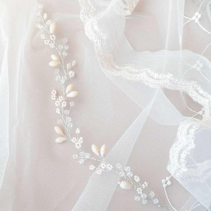 Свадебный веночекдля прически. Стоимость 1450 руб. - фото 17549082 Екатерина Захарова - украшения для волос