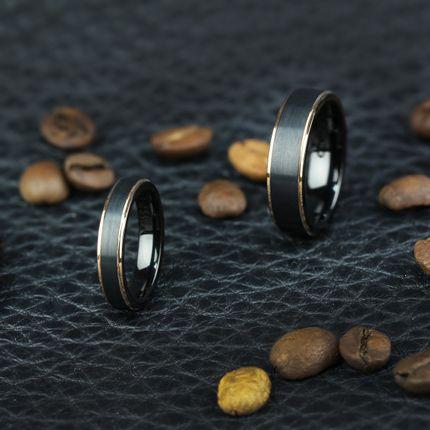 Чёрное матовое кольцо из вольфрама (R-TG-4321)