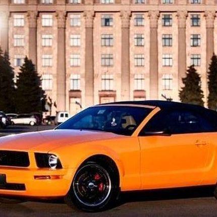 159 Ford Mustang кабриолет оранжевый прокат аренда