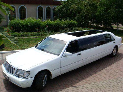 057 Кабриолет лимузин Mercedes W140 S600 cabrio в аренду