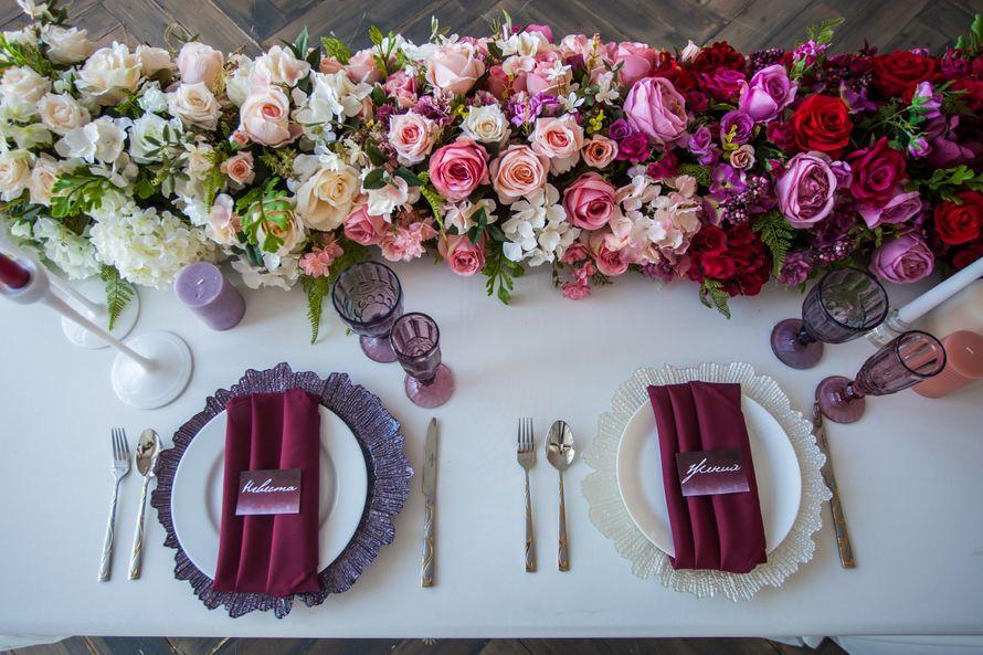 """Сервировка стола жениха и невесты """"Джейн Эйр"""" - фото 17659470 Аренда декора и готовые решения Deterra"""