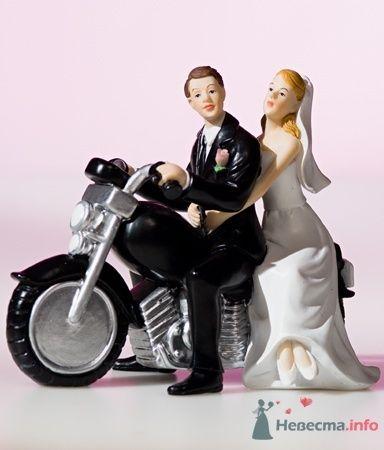 Жених и невеста на мото - фото 53552 RosyDog – свадебные аксессуары из Америки и Европы
