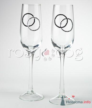 """Свадебные бокалы для шампанского """"Кольца"""" - фото 79157 RosyDog – свадебные аксессуары из Америки и Европы"""