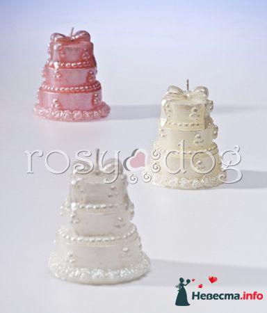 Свечи свадебный торт (белый, кремовый, розовый) - фото 87595 RosyDog – свадебные аксессуары из Америки и Европы
