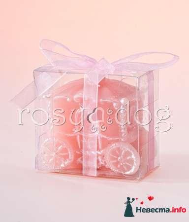 Свадебная свеча Карета для подарков гостям - фото 87598 RosyDog – свадебные аксессуары из Америки и Европы
