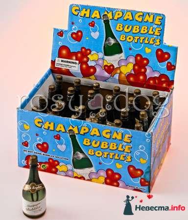 Свадебные мыльные пузыри Шампанское - фото 87615 RosyDog – свадебные аксессуары из Америки и Европы