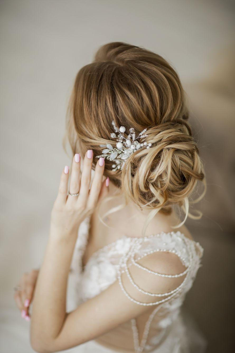 подходящих свадебные прически фото со шпильками кожа это