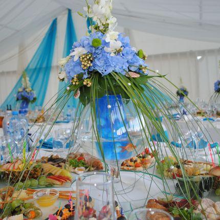 Цветочная композиция на столы гостей, цена за 1 шт