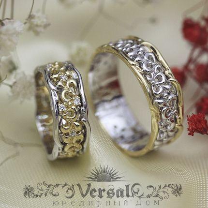 Парные обручальные кольца, артикул VGOK0130
