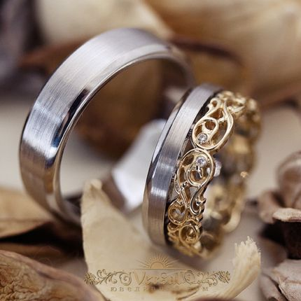 Парные обручальные кольца, артикул VGOK0171