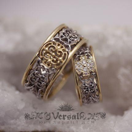 Парные обручальные кольца, артикул VGOK0120