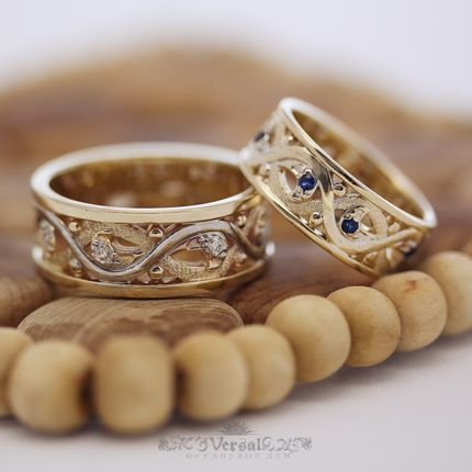 Парные обручальные кольца, артикул VGOK0091