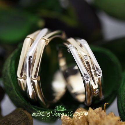 Парные обручальные кольца, артикул VGOK0095