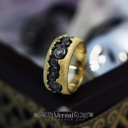 Парные обручальные кольца, артикул VGOK0098