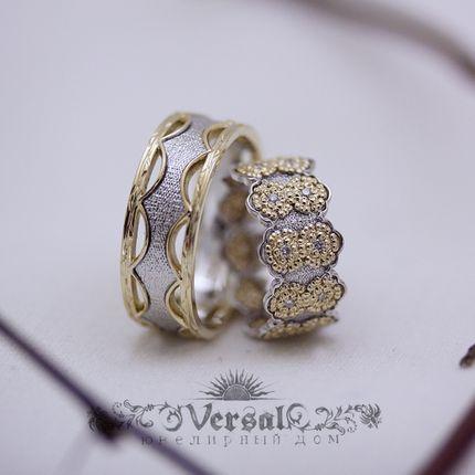 Парные обручальные кольца, артикул VGOK0161