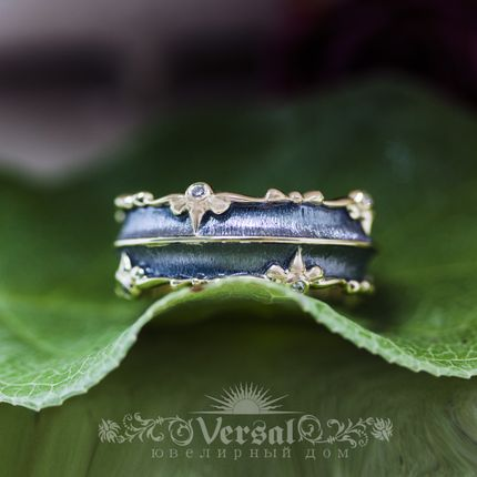Парные обручальные кольца, артикул VGOK0169