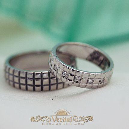 Парные обручальные кольца, артикул VGOK0147