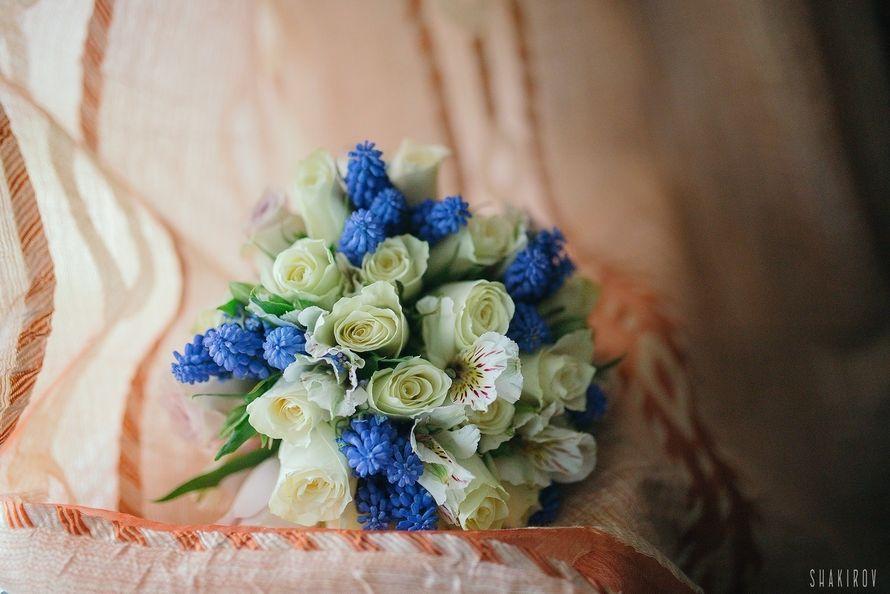 "Голубой букет невесты 2018 - фото 18091790 Студия декора ""Lovely"""