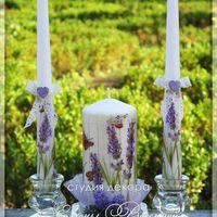 Свадебные свечи в стиле Прованс