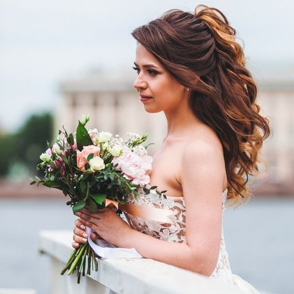 Образ невесты (причёска + макияж)