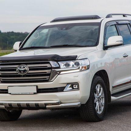 Toyota land cruiser 2016 г. белый в аренду, 1 час