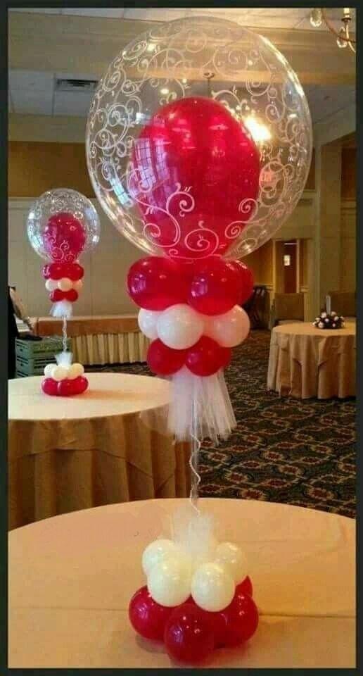 Оформление гостевых столов воздушными шарами