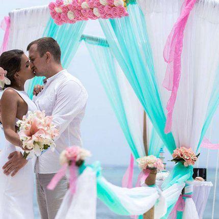 Фотосессия со свадебной аркой в Доминикане