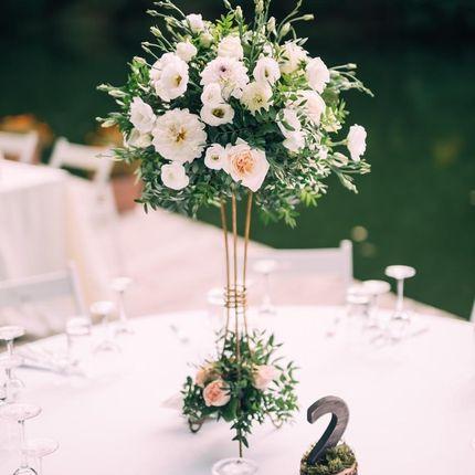 Цветочное оформление гостевых столов