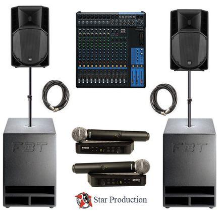 Комплект звукового оборудования №2 в аренду